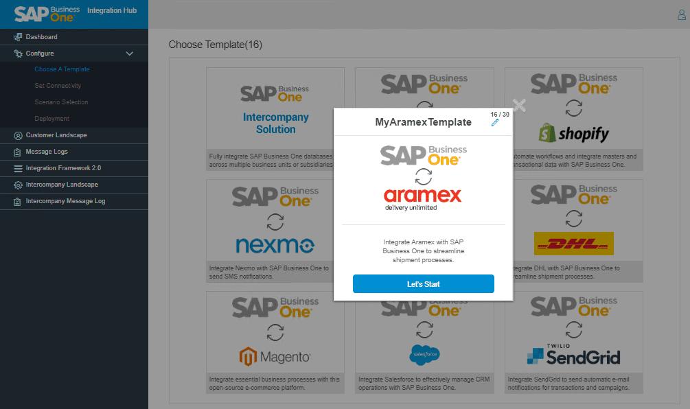 Defining Aramex Template